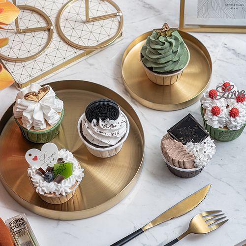 仿真蛋糕模型假奶油纸杯蛋糕 ins美食摄影道具橱窗装饰甜品台摆件