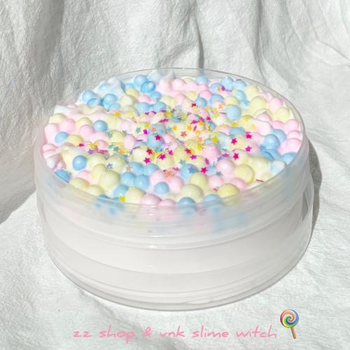 【新品】彩糖酸奶 彩球泥解压玩具史莱姆slime声控泥起泡胶