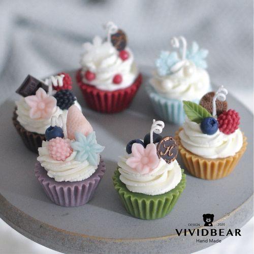 奶油杯子蛋糕香薰蜡烛摆件情侣生日礼品婚礼高颜值