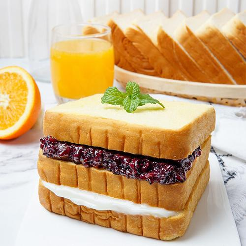 紫米面包奶酪夹心吐司面包切片糕点营养早餐零食品整箱550g/1100g