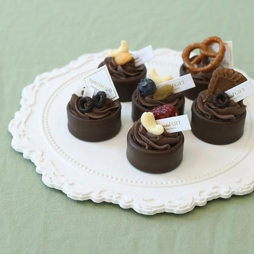 仿真巧克力挞 坚果点心小甜品 美食摄影道具 婚庆摆台假体蛋糕