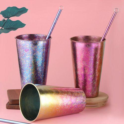 钛工匠纯钛啤酒杯户外轻便随身杯家用宽口单层钛杯