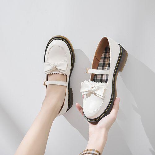 【学院风玛丽珍鞋】2021春新款平底浅口约会女单鞋女鞋小皮鞋