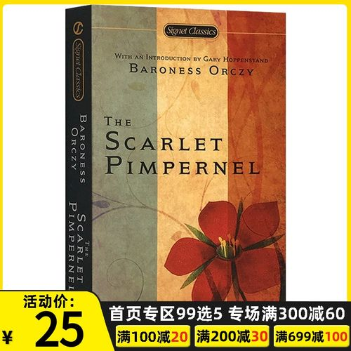 the scarlet pimpernel 红花侠 英文原版 百老汇音乐剧原著小说
