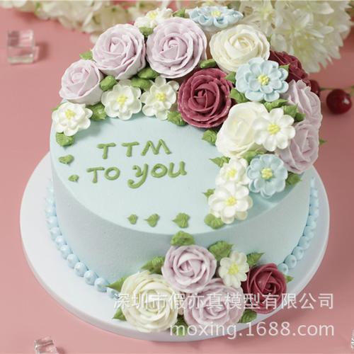 假亦真仿真蛋糕模型 韩式裱花小仙女花仙子立体逼真