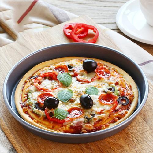 艺佃6-10寸圆形披萨盘烤盘pizza比萨不粘烘焙模具烤箱工具家用