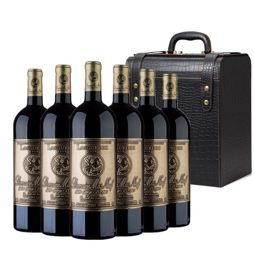 曼斯新堡干红葡萄酒整箱法国原瓶进口朗格多克西拉混酿红酒750ml