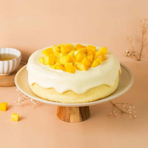 【芒果爆浆--网红流心芝士蛋糕】
