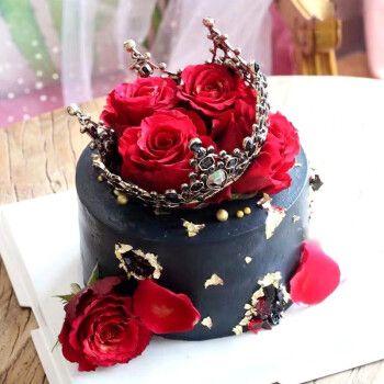 生日蛋糕当日送达送女朋友女友老婆定制鲜花玫瑰花蛋糕预定网红抖音