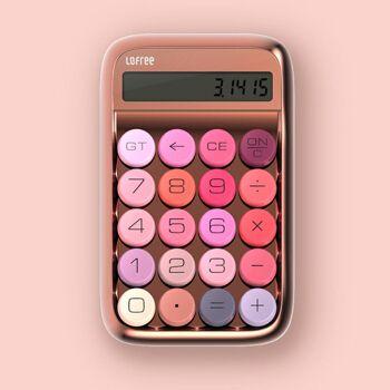 口红糖豆计算器 财务会计办公便携玫瑰金计算器 玫瑰金 计算器