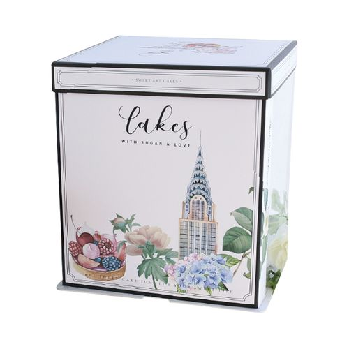 加高半透明生日蛋糕盒6/8/10寸蛋糕盒子包装盒家用网