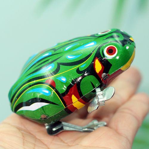 铁皮青蛙上链条玩具小青蛙儿童发条玩具跳跳蛙小动物