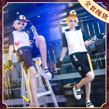 cos黑化金cosplay凹凸世界cos男女动漫日假发现货 女码l 金cos服+假发