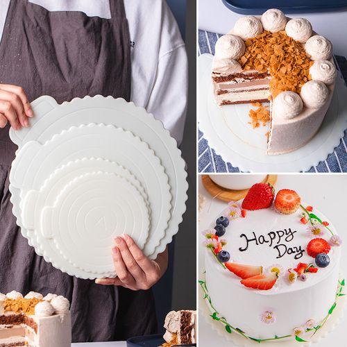 蛋糕底托垫片 重复使用4/6/8/10寸 5只 家用生日蛋糕