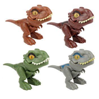手指恐龙q版迷你霸王龙战队美泰侏罗纪世界小型收藏关节可动仿真3 咬