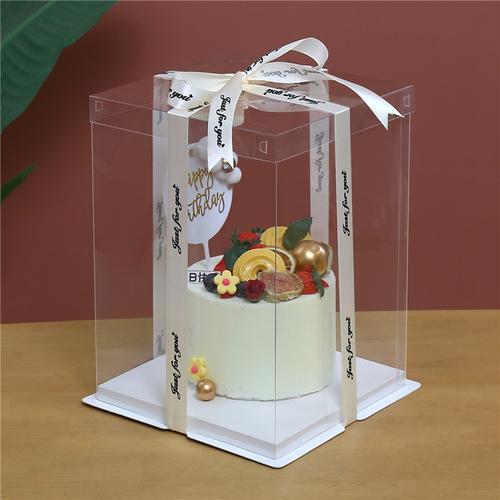 透明蛋糕盒4寸6寸8寸10寸12寸14寸蛋糕盒子包装单层双层加高