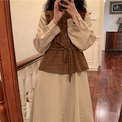 2021早春新款女装日系风格穿搭法式复古茶歇法式复古