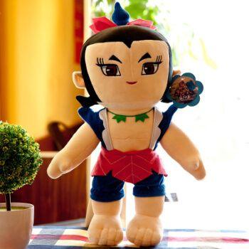 金刚葫芦娃毛绒玩具动漫公仔葫芦兄弟玩偶 布娃娃儿童新年会礼品 六娃