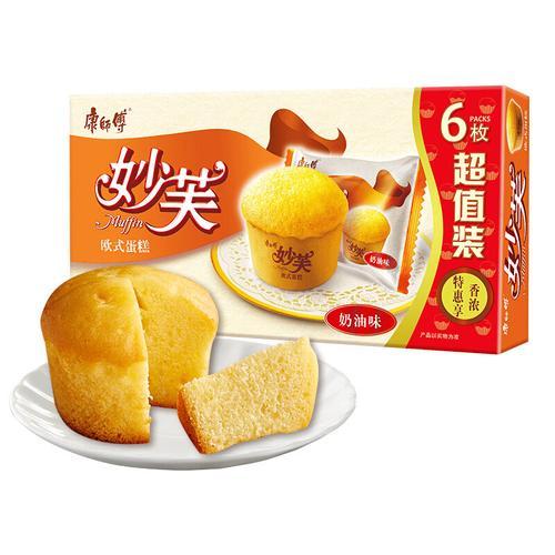 康师傅妙芙蛋糕(奶油味)288g 营养早餐办公室休闲零食
