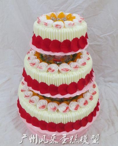 广州蛋糕模型 三层芭比玫瑰花婚庆开业架子蛋糕模型