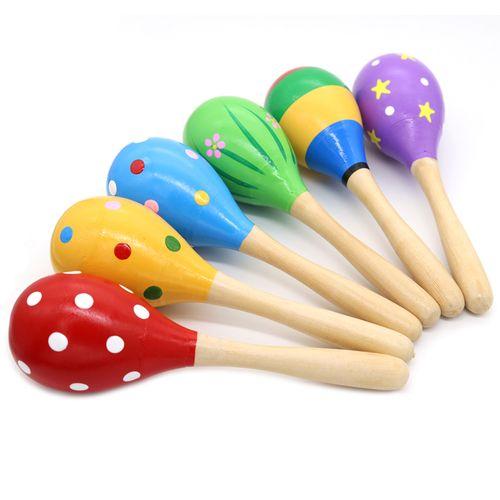 幼儿园宝宝木质沙锤婴幼儿早教音乐打击乐器玩具沙球