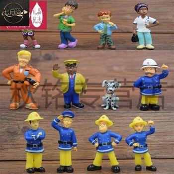 acgicea小小救生队firemansam 消防员山姆公仔斯蒂尔佩妮玩具摆件 12