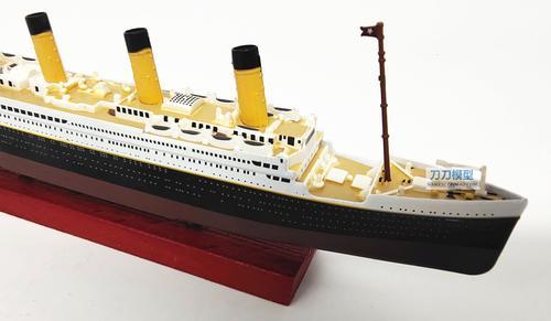 1:1250泰坦尼克号豪华游邮轮仿真合金船模型上色成欧洲设计师款
