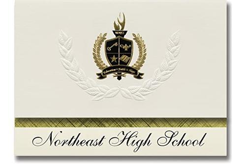 标志性公告 northeast 高中(奥克拉荷马城,ok)毕业宣布,总统风格,25