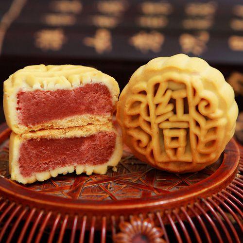 【买一发二】水果月饼凤梨哈密瓜多口味小月饼广式五仁4个/90个 豆沙