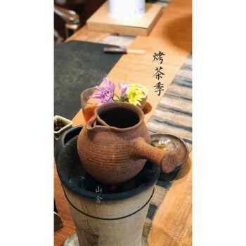 云南煮茶土陶罐侧把小型烤茶罐器煮茶陶罐土窑柴烧煮茶干炒茶提香烘焙
