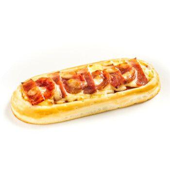 披萨生鲜半成品 即食比萨烘焙 加热即食 培根香肠芝士船披萨90g*2