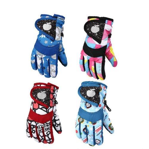 儿童堆雪人手套加厚宝宝小朋友防冻保暖防水男童卡通