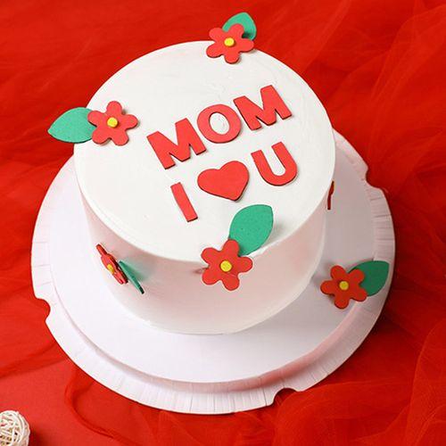 母亲节蛋糕装饰 海绵eva花朵爱妈妈插件 生日蛋糕插牌