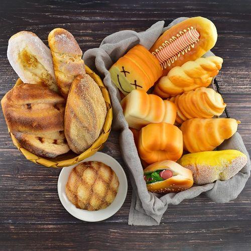菠萝甜品店法式面包仿真模型幼儿园法棍食物装饰品
