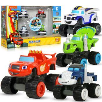 旋风战车赛车队玩具惯性车队回力车变形车拼装积木场景玩具飙速儿童