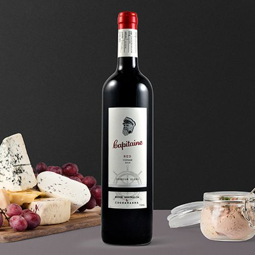 澳洲红酒澳大利亚干红葡萄酒老船长精选原装进口赤霞珠西拉干型红酒