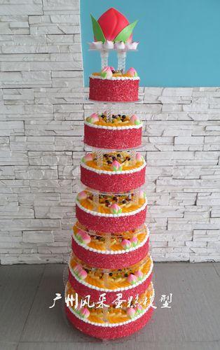 定制新款祝寿蛋糕模型八层 多层大寿桃水果拼盘生日
