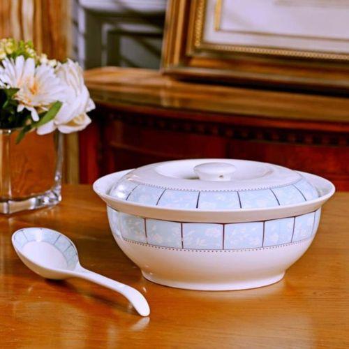 创意英寸学生宿舍盆蛋糕盆盖家用油陶瓷大汤复古陶瓷
