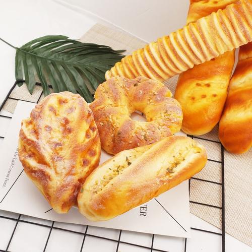法式仿真面包模型大长条面包法棍软香商场橱窗装饰摆设假食品道具