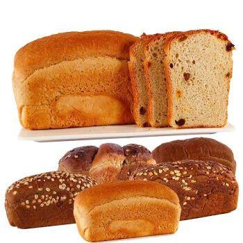俄罗斯风味特产 全麦杂粮切片面包 营养早餐旅行点心零食 燕麦列巴4个