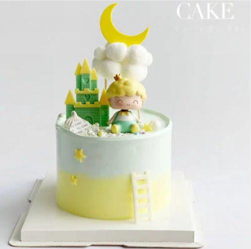 烘焙生日蛋糕装饰摆件小小童话王子卡通可爱儿童生日