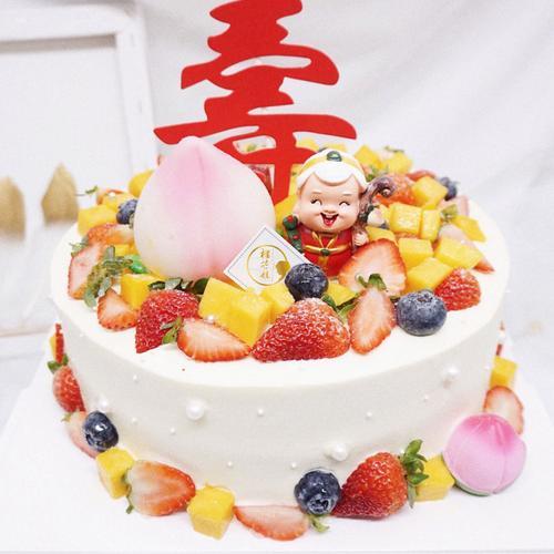 【'祝寿奶奶】-生日蛋糕/寿星老人蛋糕