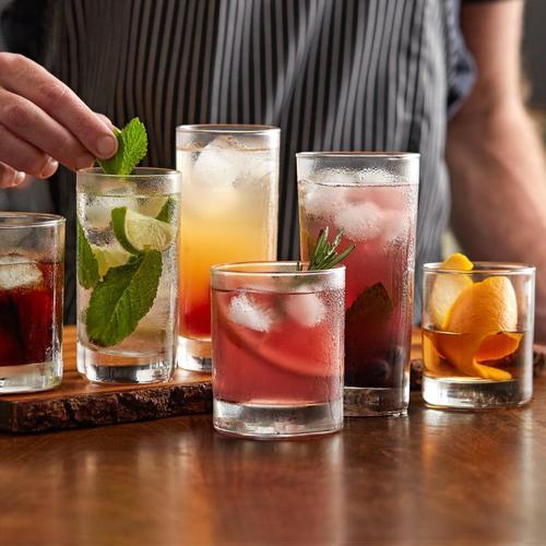 莫吉托mojito杯鸡尾酒杯酒吧长饮杯柯林杯果汁杯酒杯调酒玻璃杯子
