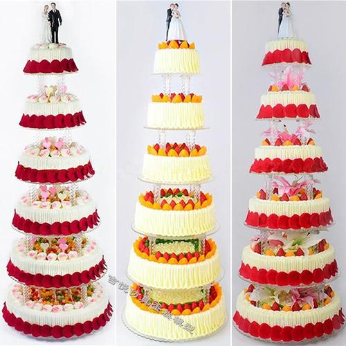 2018吉悦新款欧式水果仿真蛋糕模型6层架子蛋糕婚庆