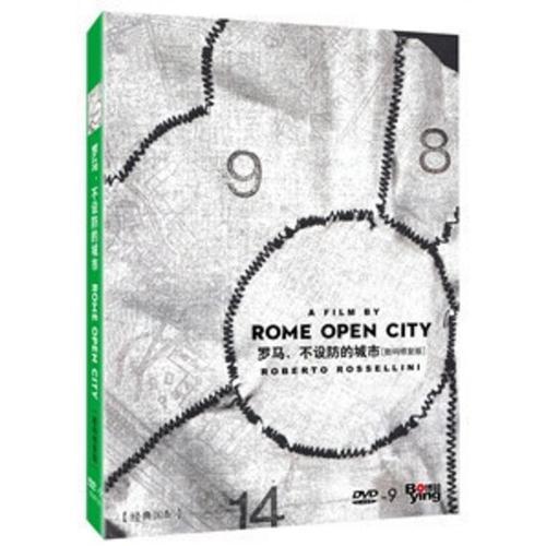 正品 罗马不设防的城市 盒装d9 dvd 数码修复版