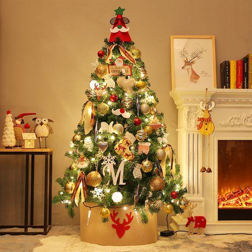 8米金色圣诞树家用大型豪华发光1.5米套餐圣诞节装饰