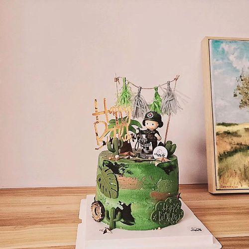 烘焙蛋糕装饰特种兵摆件生日蛋糕装饰军人兵哥哥
