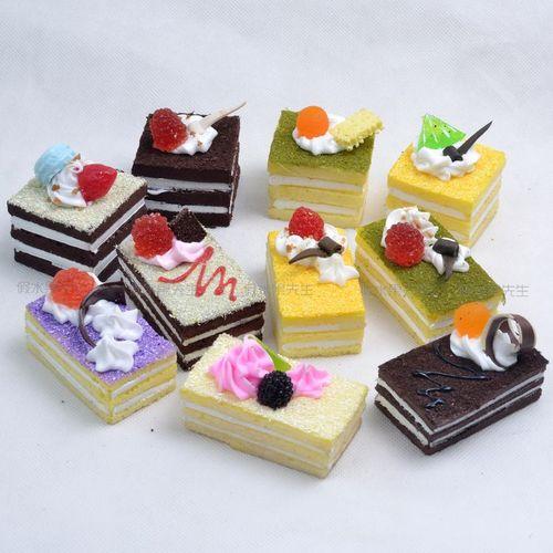 仿真面包假水果模型 西点甜点装饰品 仿真长方形小蛋糕