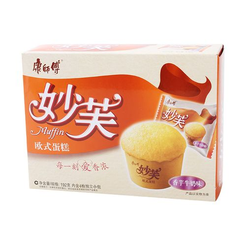 康师傅妙芙欧式蛋糕零食(香芋牛奶味) 192克/盒