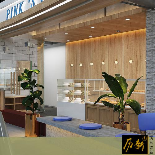 历新设计烘焙蛋糕店装修设计面包店实体店设计效果图